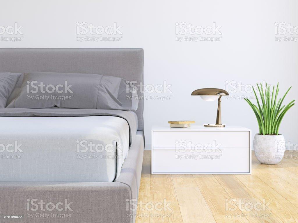 Moderne Schlafzimmer Interior – Foto
