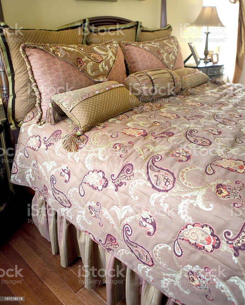 Modern Bedroom Luxury Home Suburbia royalty-free stock photo