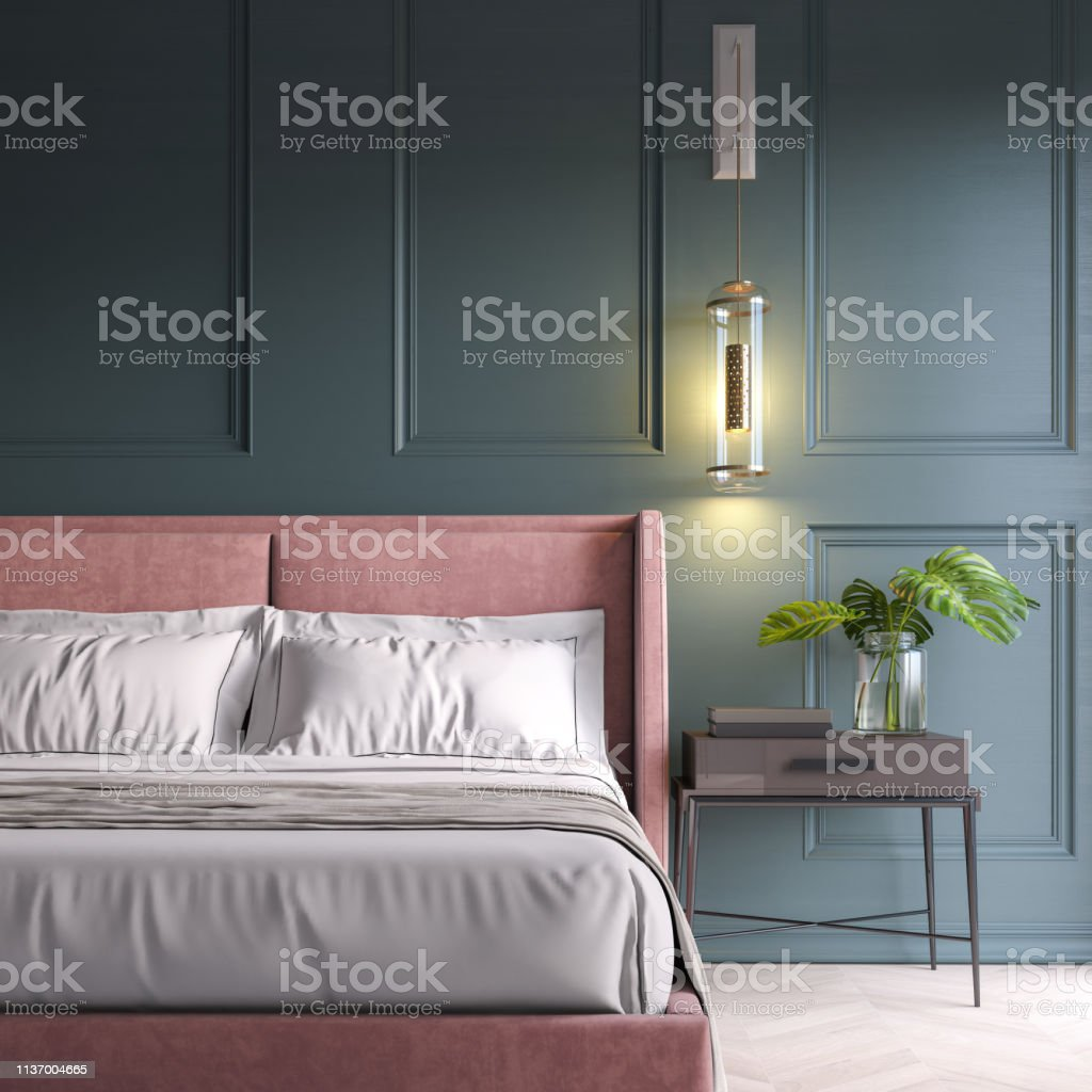 Modern bedroom Modern bedroom Apartment Stock Photo