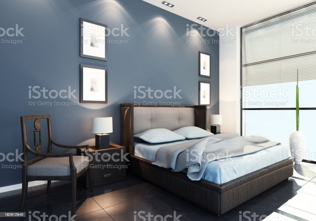 Modern Bedroom royalty-free stock photo