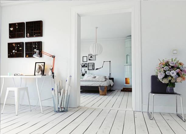 moderne schlafzimmer - eleganz stil stock-fotos und bilder