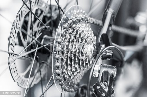 modern bicycle gear shift gears rear wheel
