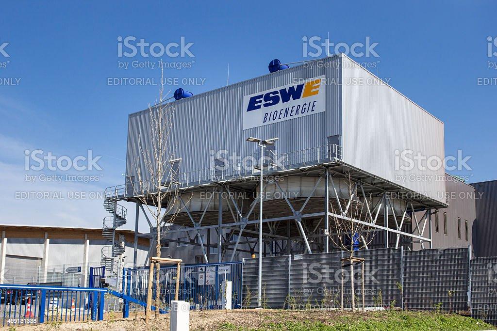 Modern biogas plant of ESWE Wiesbaden, Germany stock photo