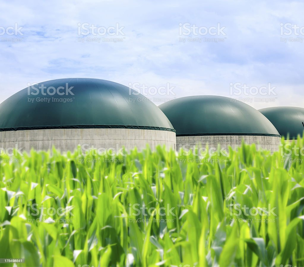 Modern Biogas Plant stock photo