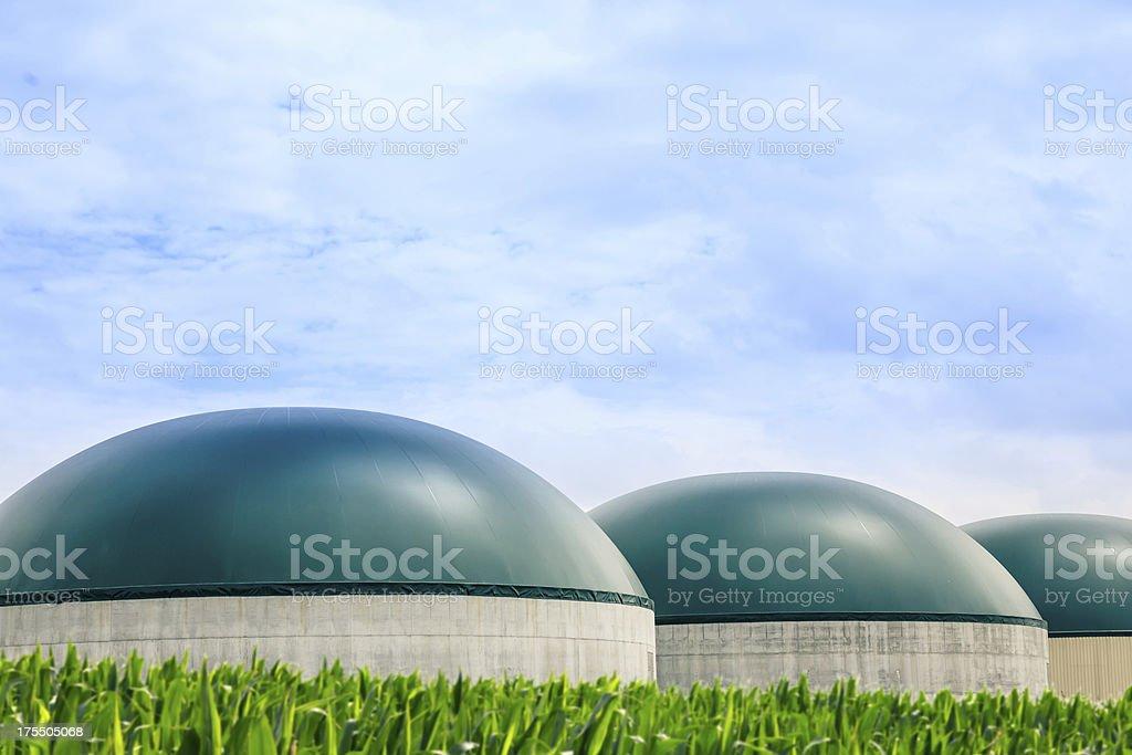 Modern Biogas Plant royalty-free stock photo
