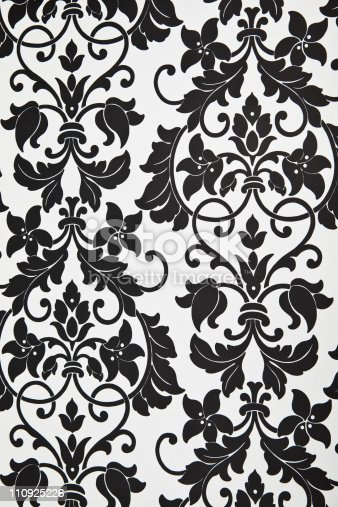 Modern Black And White Floral Pattern Wallpaper Stock Photo More Pictures Of Abstract