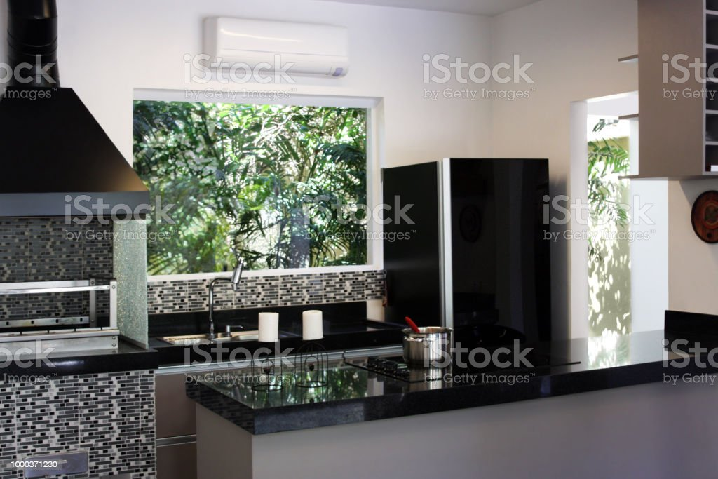 Modern Black And White Kitchen Stock Photo Download Image Now Istock