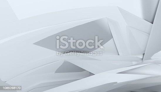 639291528 istock photo Modern black and white shapes abstract background 1085268170