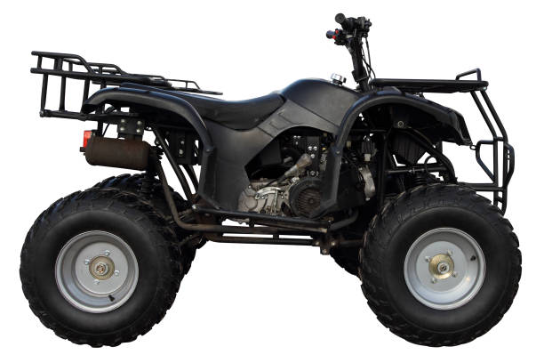 Modern black atv. Modern atv isolated on white background. quadbike stock pictures, royalty-free photos & images
