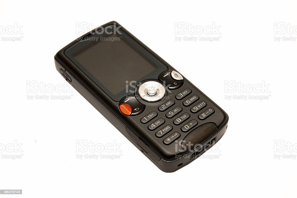 Modern black cellular phone stock photo