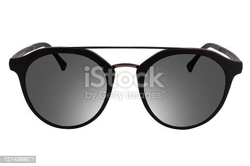 Modern black Eye Glasses Frame isolated on white background.