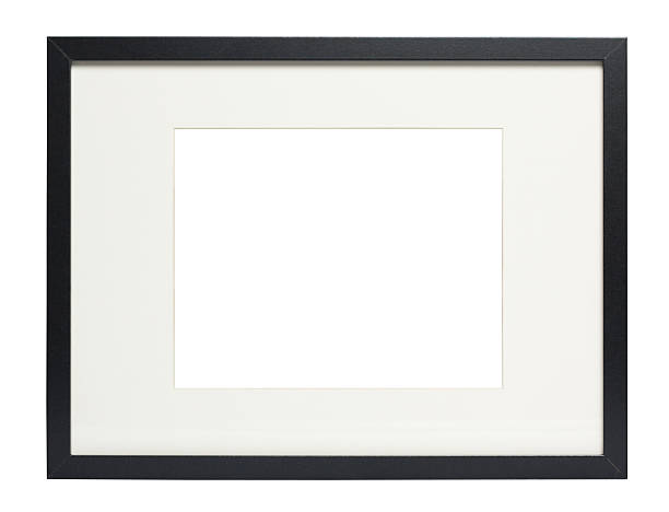 Modern Black photo frame (with clipping path)