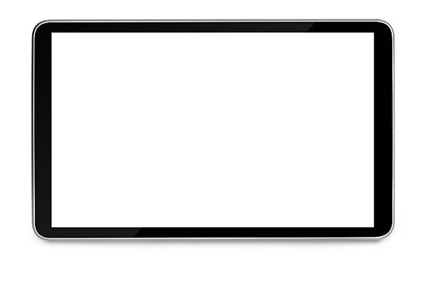 modern black tablet pc modern black tablet pc with blank screen isolated on white background blank screen stock pictures, royalty-free photos & images