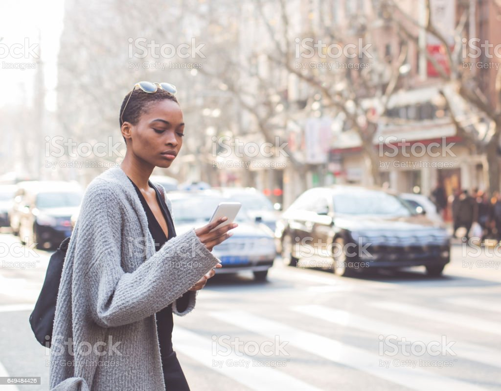Modern black woman stock photo