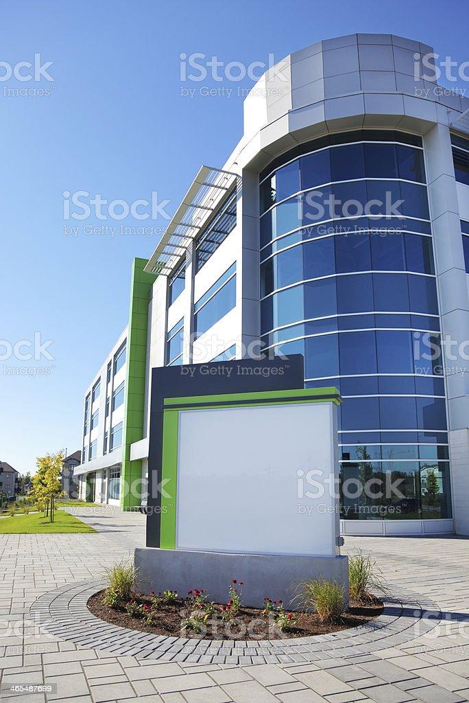 Modern Blank Corporate Sign stock photo
