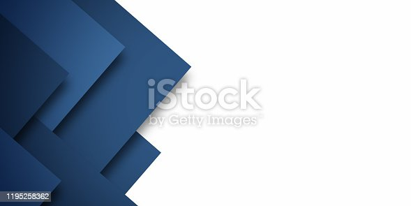 Modern Blue Abstract Background Presentation Design
