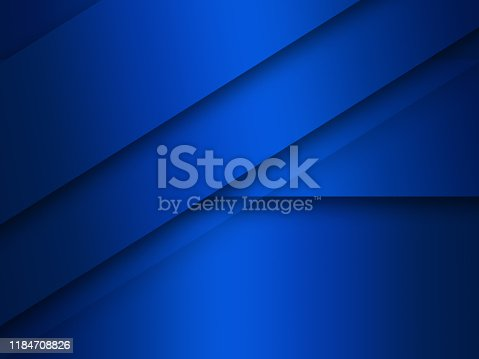 1126531335 istock photo Modern blue background overlap paper with blank space for your text 1184708826