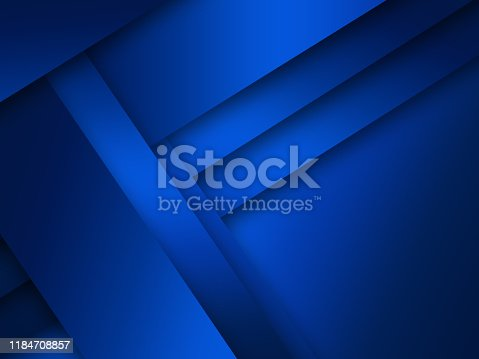 1126531335 istock photo Modern blue background overlap paper with blank space for your text 1184708857