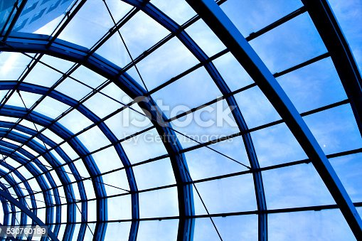 istock modern blue ceiling in the office 530760189