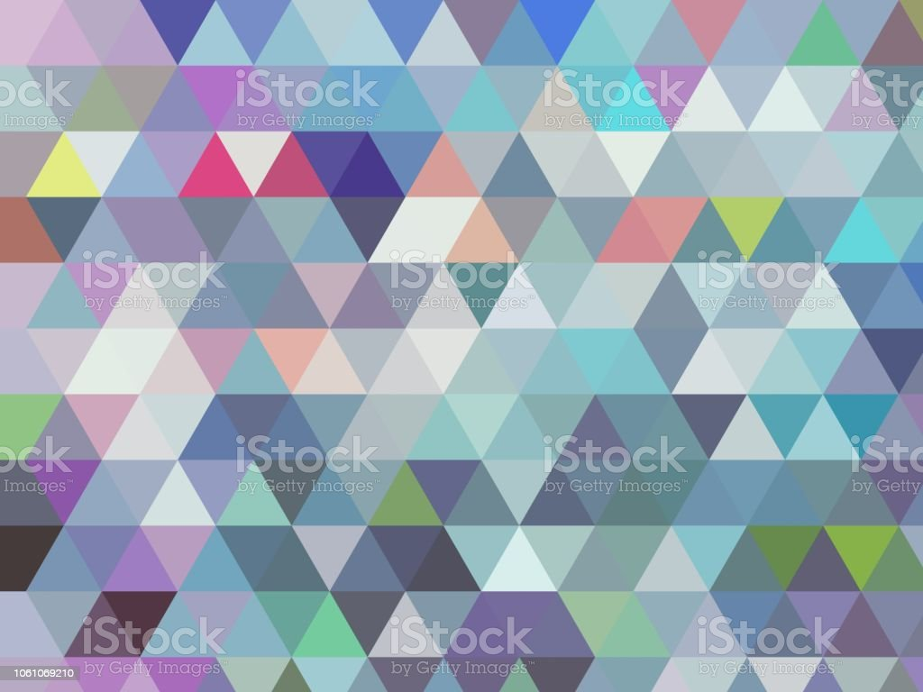 modern blue geometric low poly triangle abstract angular design in modern cool light blue tones with different coloured accents stock photo