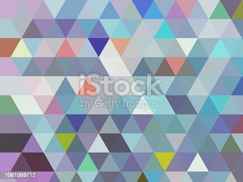 a modern blue geometric low poly triangle abstract design in modern cool light bluestones with different coloured accents