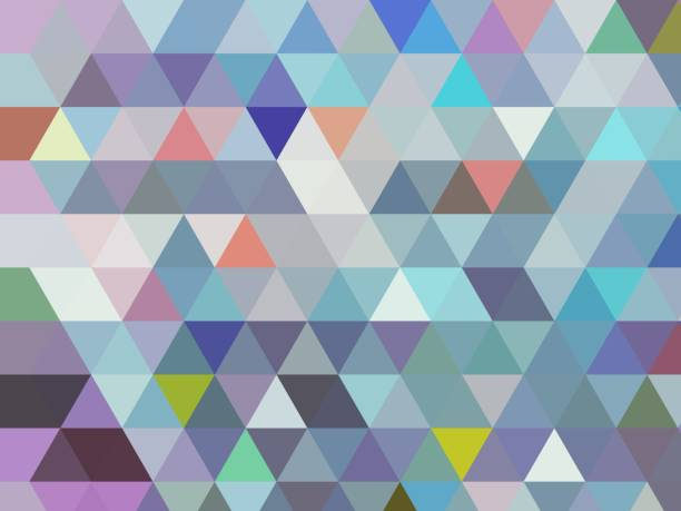 modern blue geometric low poly triangle abstract design in modern cool light bluestones with different coloured accents - funky stock pictures, royalty-free photos & images