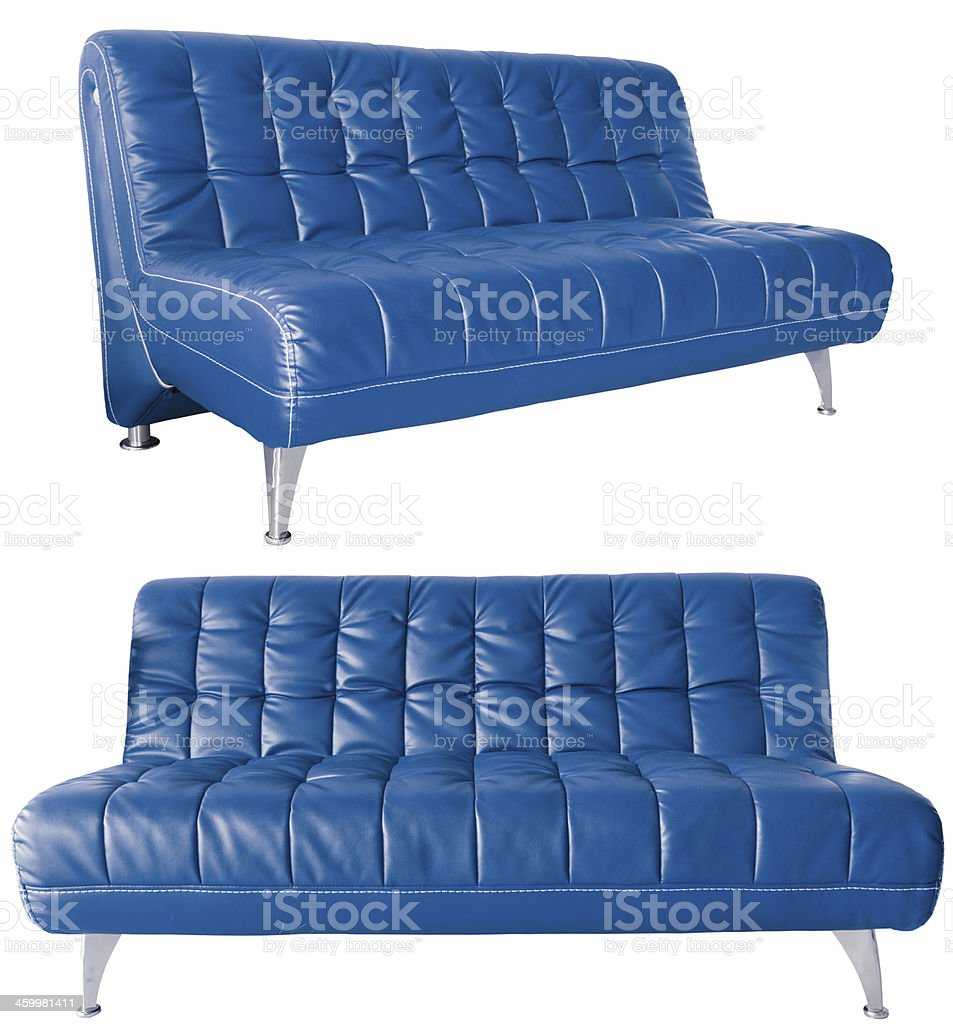 Modern Blue Leather Sofa Stock Photo Download Image Now Istock