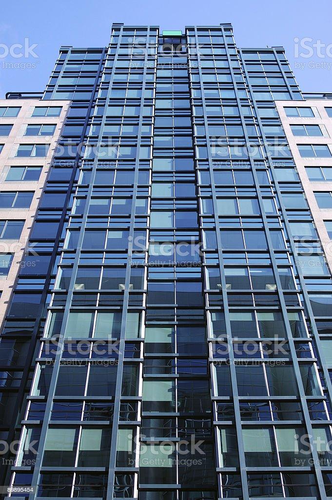 Moderne blaue Wolkenkratzer Lizenzfreies stock-foto