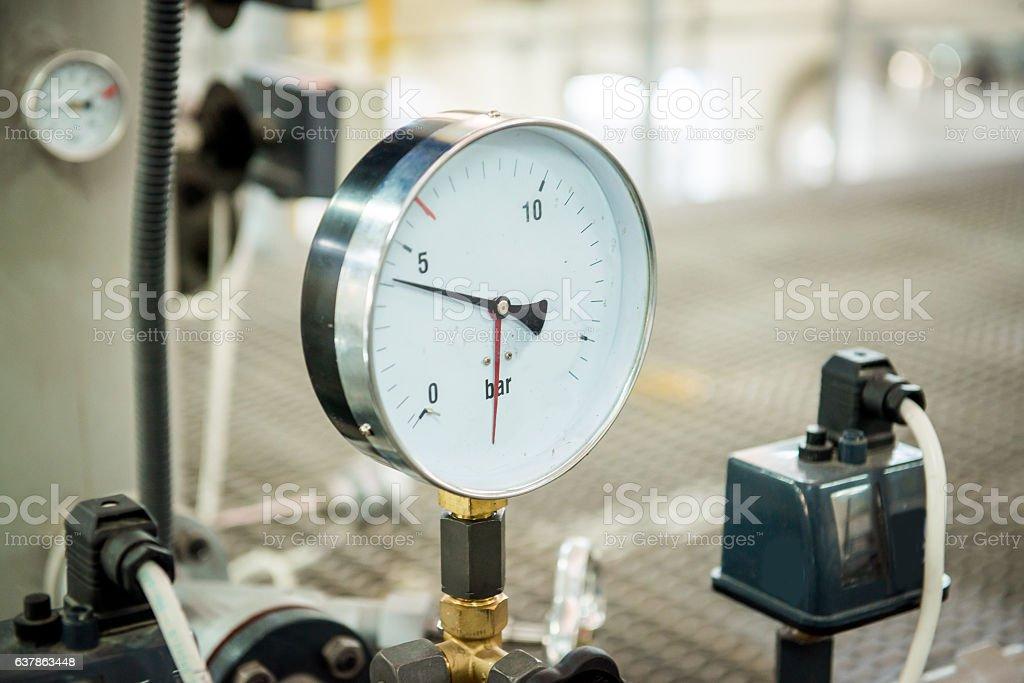 Modern boiler room equipment- high power  burner – Foto