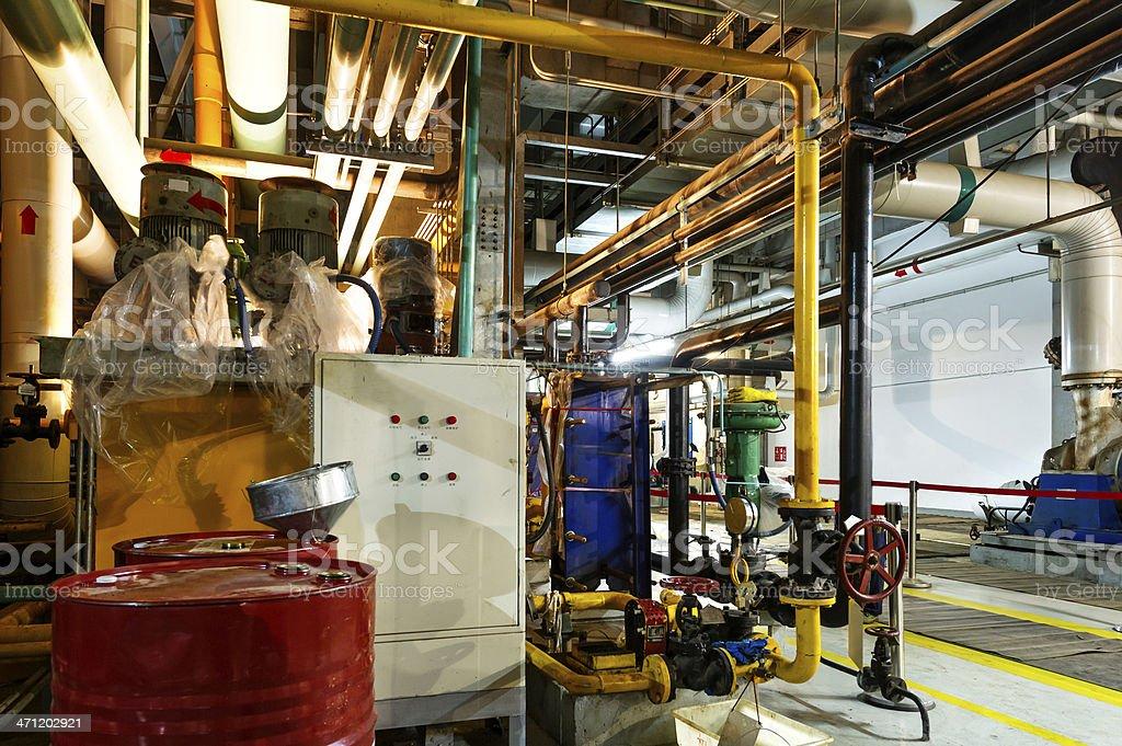 Modern boiler room equipment royalty-free stock photo