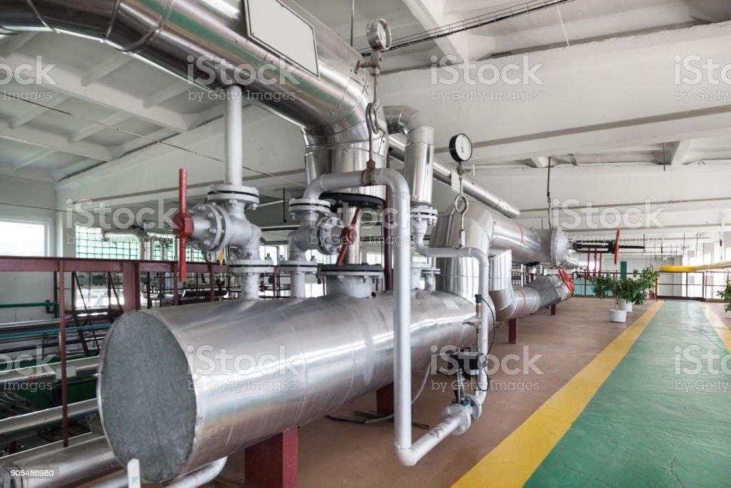 Moderne Heizraum, Dampf und Heißwasser-generation – Foto