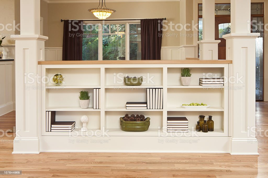 Modern bookcase in home royalty-free stock photo