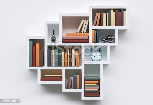 istock modern bookshelf or library with books on white background 953910510