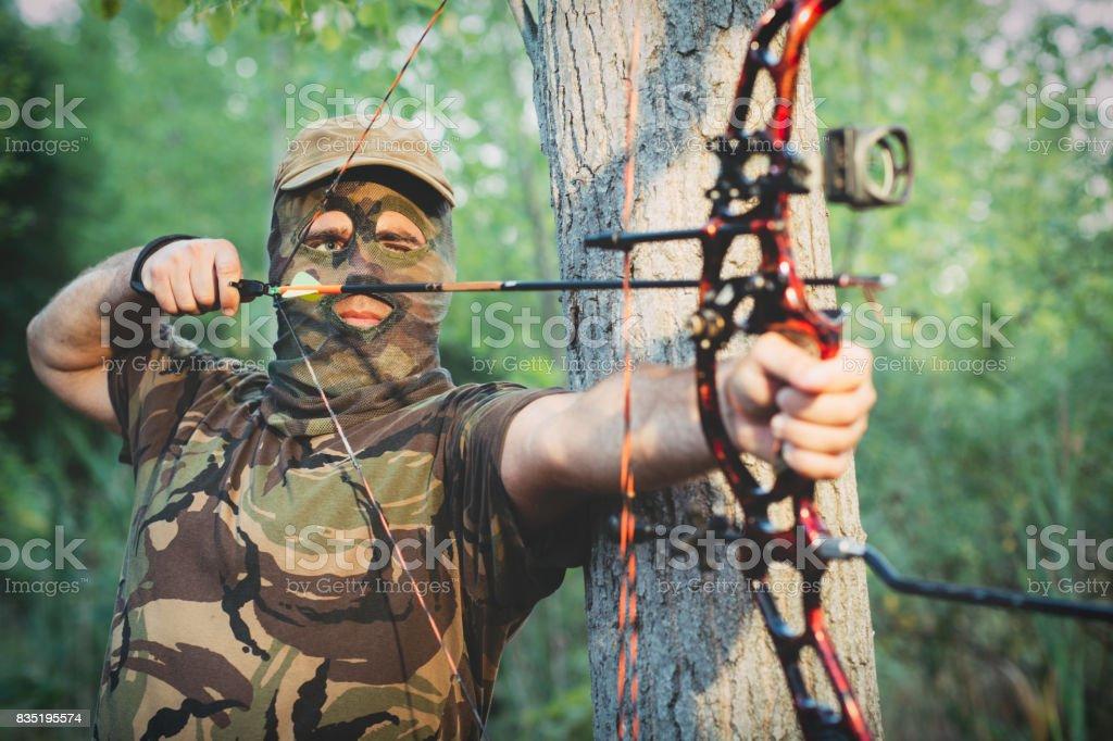Modern Bow Hunter stock photo