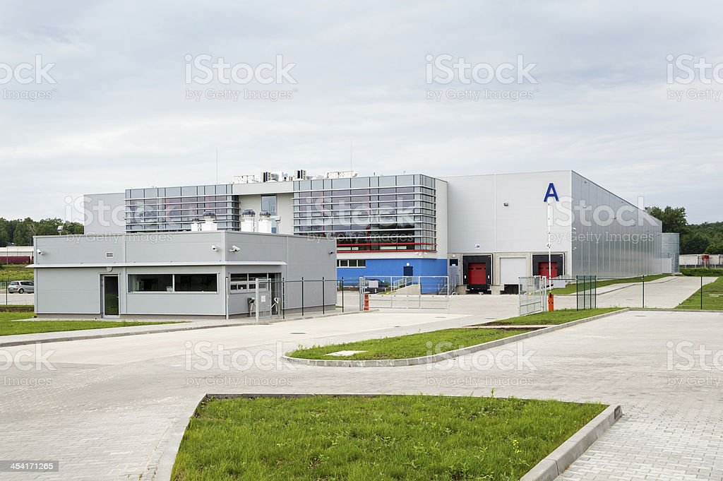 Modern, Brand New Storehouse stock photo