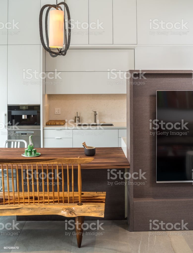 Modern Breakfast nook Interior stock photo