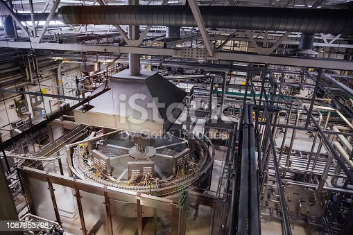 istock Modern brewery production line 1087653798