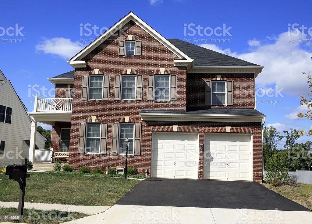 Modern Brick Home Suburbia royalty-free stock photo