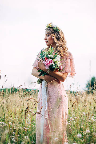 Modern Bridal Style Boho Fashion Wedding - foto de stock