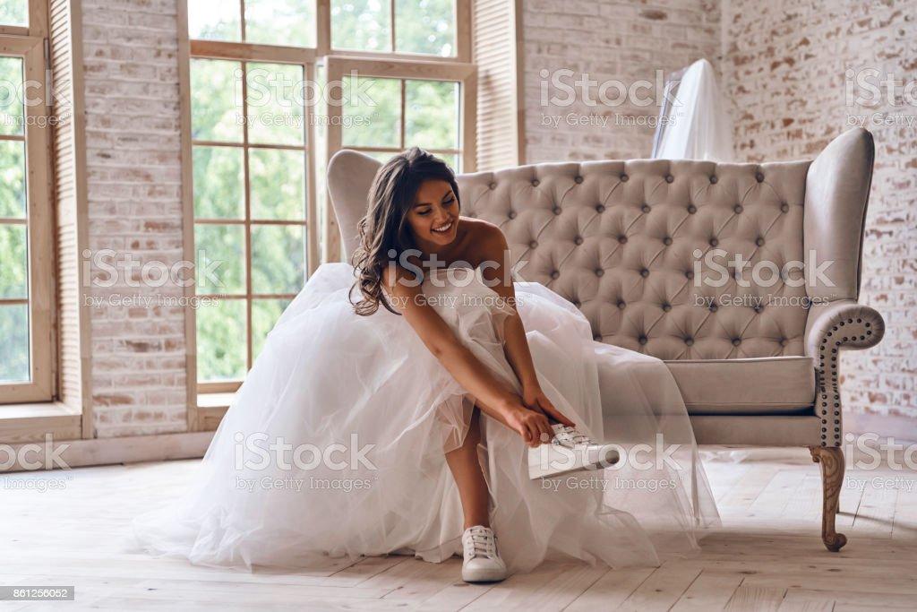 Modern bride. stock photo