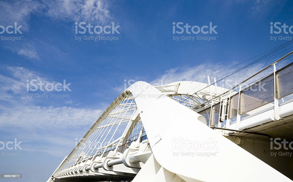 Modern bridge 2 stock photo