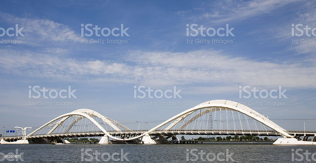 Modern bridge 3 stock photo
