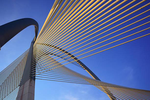 Modern bridge architecture at Putrajaya stock photo