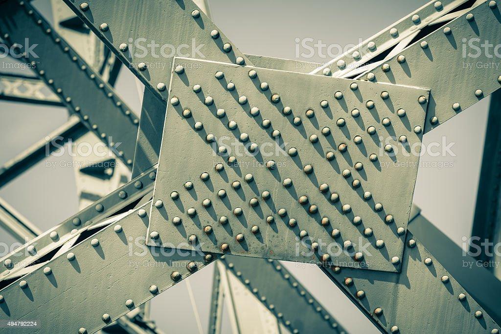 Modern Bridge frame closeup stock photo