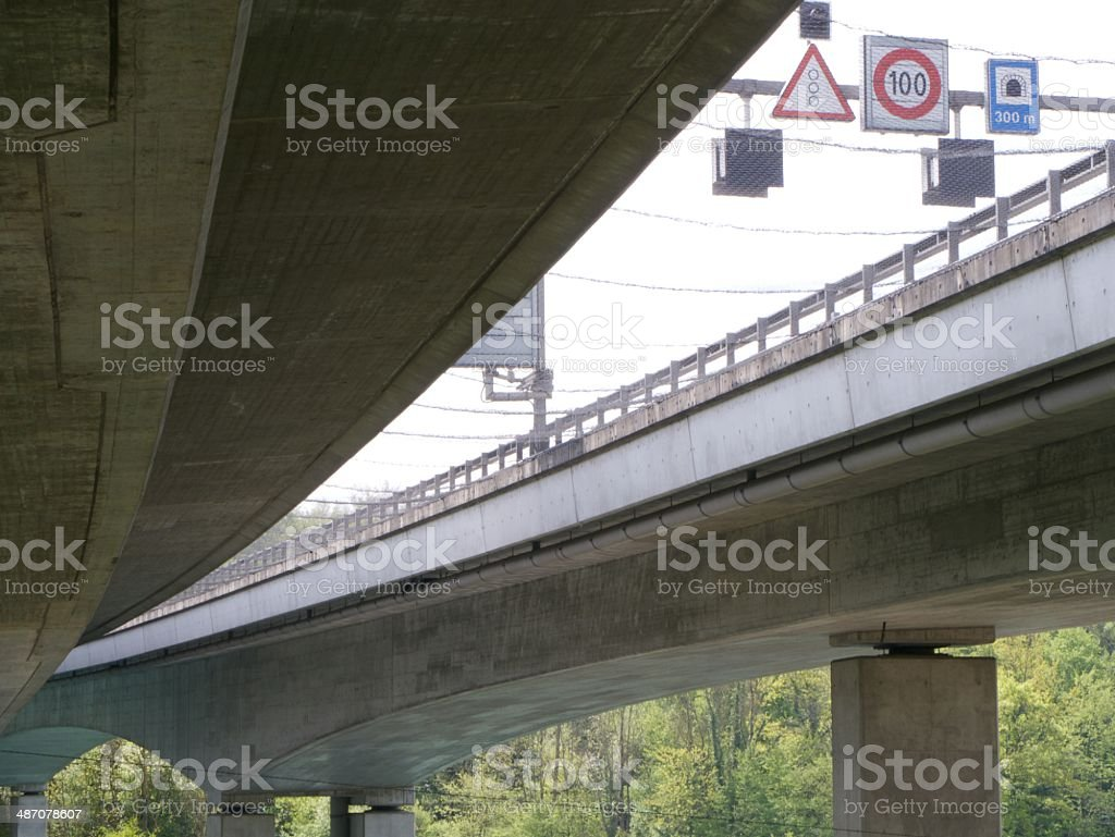 modern bridge geneve royalty-free stock photo