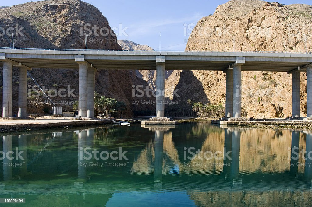Modern bridge over river royalty-free stock photo