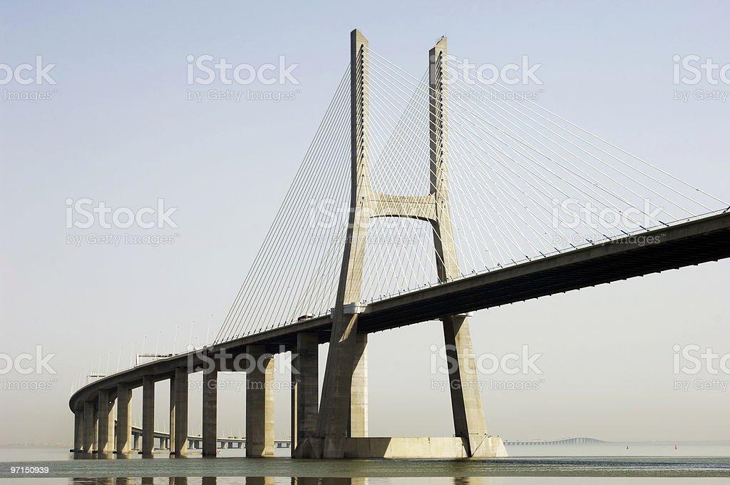 Modern bridge royalty-free stock photo