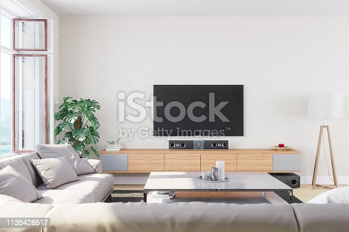 1066863894 istock photo Modern, Bright And Airy Living Room 1135426517