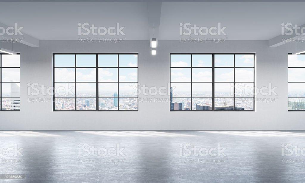 loft interieur mit schlichtem design bilder, moderne helle schlichte einrichtung einer offenen loftstil stock, Design ideen