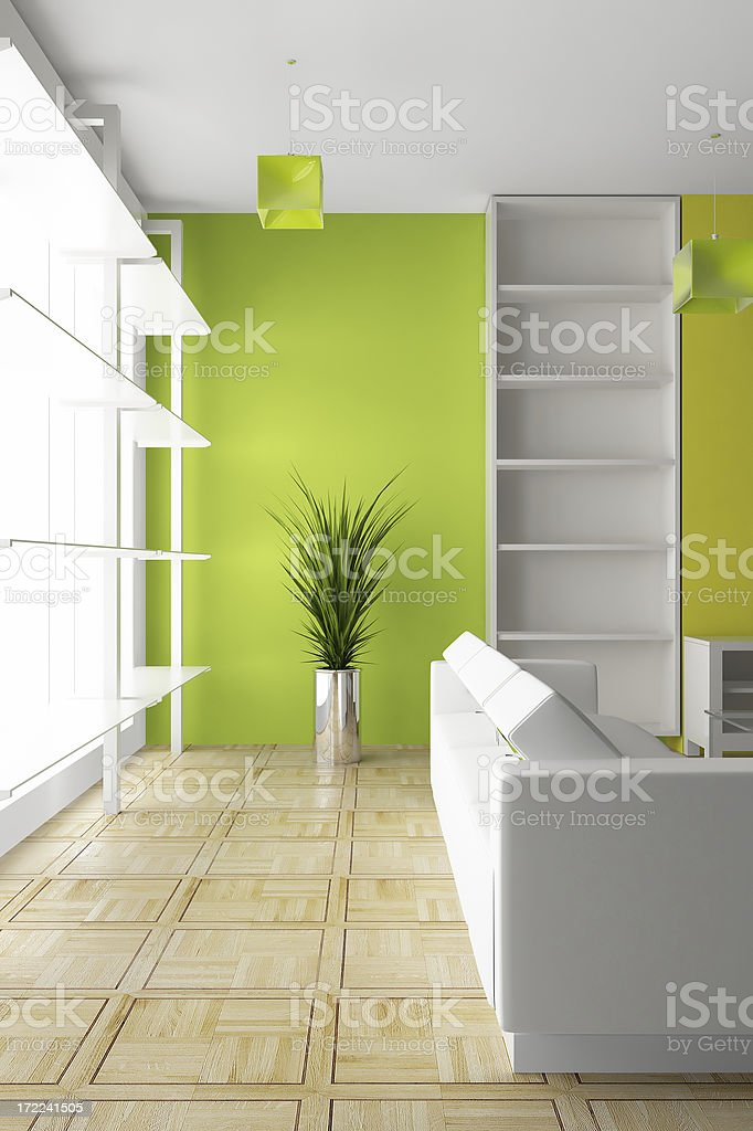 modern bright interior render (CGI) royalty-free stock photo